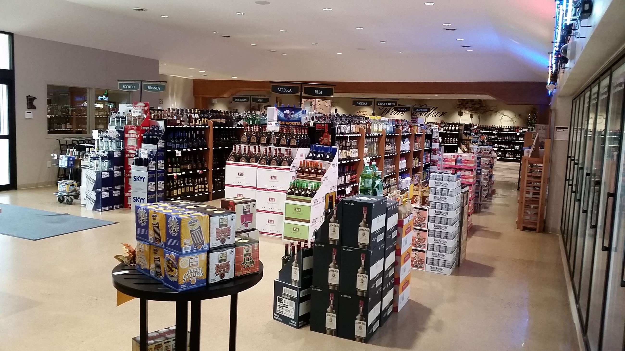 Clean bright beautiful store with large selection of fine Wines and Spirits